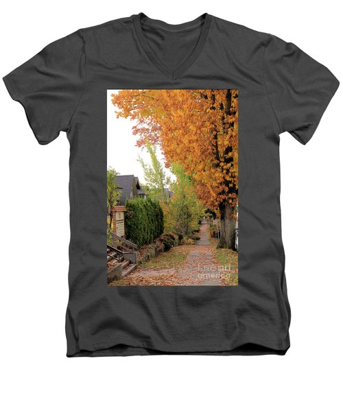 Autumn In The City Men's V-Neck T-Shirt