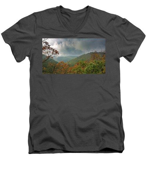 Autumn In The Ilsetal, Harz Men's V-Neck T-Shirt