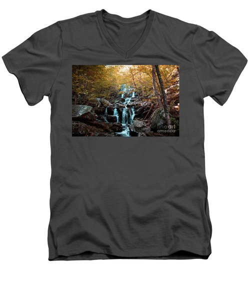 Autumn In The Mountains Men's V-Neck T-Shirt by Rebecca Davis