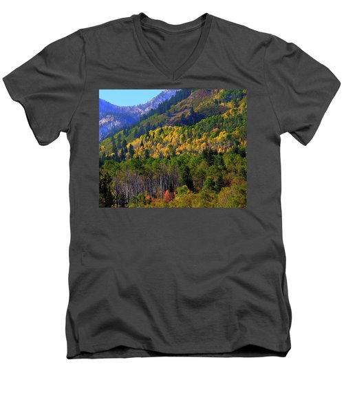 Autumn In Utah Men's V-Neck T-Shirt