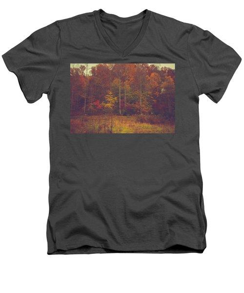 Autumn In West Virginia Men's V-Neck T-Shirt