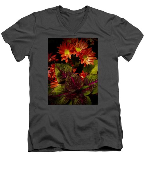 Autumn Inside Men's V-Neck T-Shirt by Tim Good