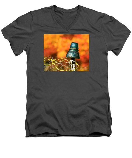 Men's V-Neck T-Shirt featuring the photograph Autumn Insulator by Debbie Stahre