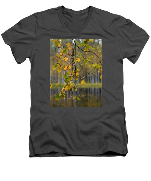 Autumn  Men's V-Neck T-Shirt by Jouko Lehto