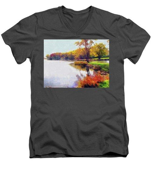 Autumn Joy Men's V-Neck T-Shirt