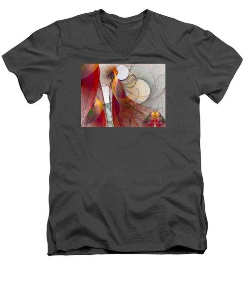 Autumn Men's V-Neck T-Shirt by Karin Kuhlmann