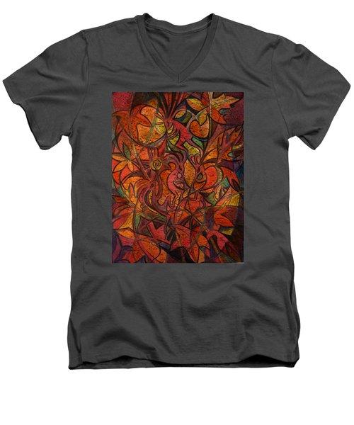 Autumn Kokopelli Men's V-Neck T-Shirt