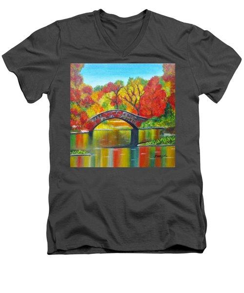 Autumn Landscape -colors Of Fall Men's V-Neck T-Shirt