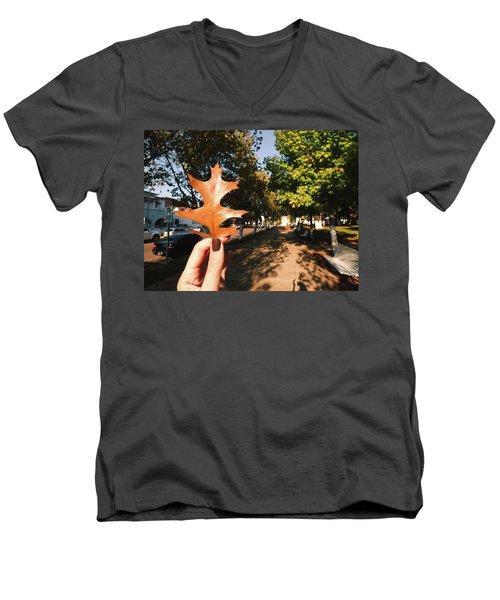 Autumn Leaf Men's V-Neck T-Shirt