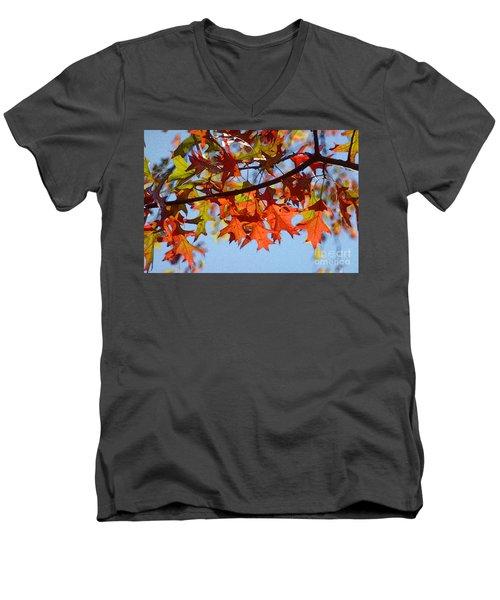 Autumn Leaves 16 Men's V-Neck T-Shirt by Jean Bernard Roussilhe