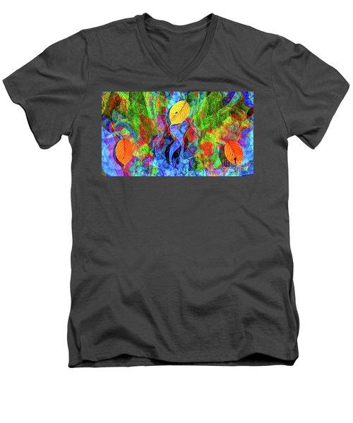 Autumn Leaves Abstract Men's V-Neck T-Shirt