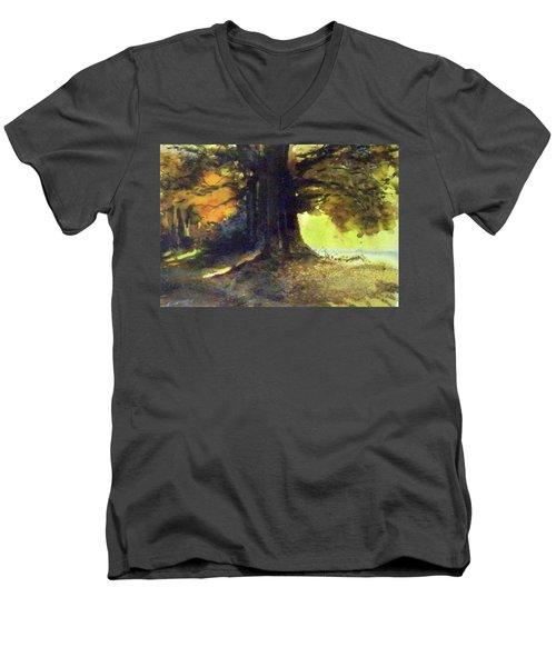 S'il Vou Plait Men's V-Neck T-Shirt by Ed Heaton