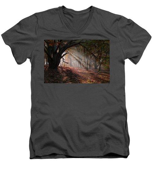 Men's V-Neck T-Shirt featuring the photograph Autumn Light  by Scott Carruthers