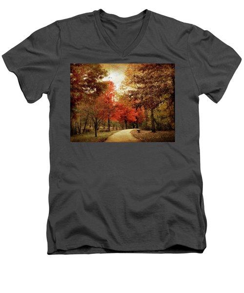 Autumn Maples Men's V-Neck T-Shirt
