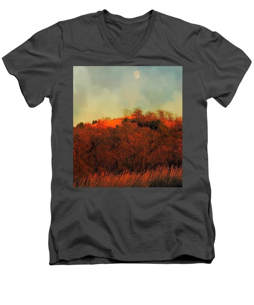 Autumn Moonrise Men's V-Neck T-Shirt