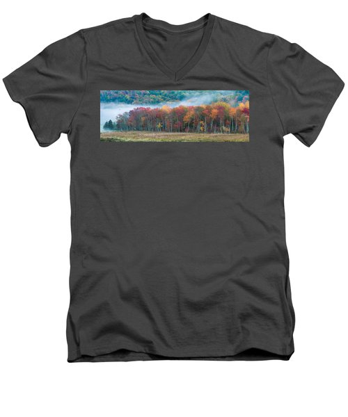 Autumn Morning Mist Men's V-Neck T-Shirt