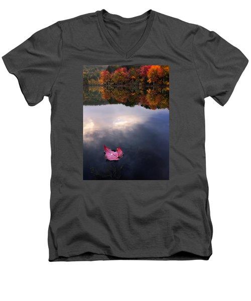 Autumn Mornings Iv Men's V-Neck T-Shirt by Craig Szymanski