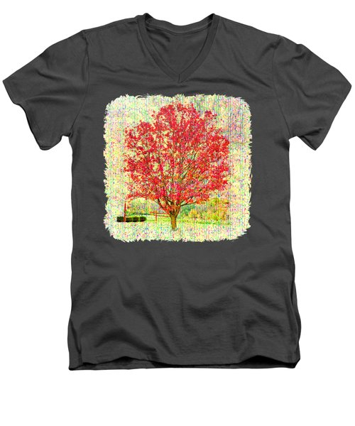 Autumn Musings 2 Men's V-Neck T-Shirt by John M Bailey