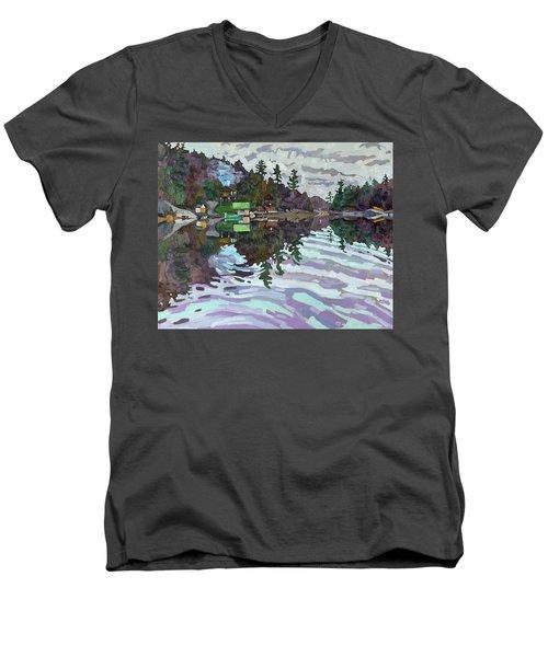 Autumn Narrows Men's V-Neck T-Shirt