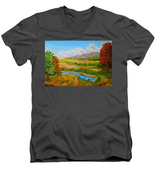 Autumn Nature Men's V-Neck T-Shirt