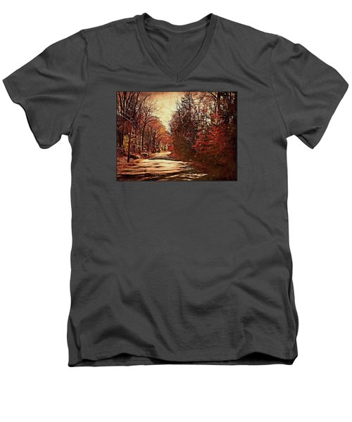 Autumn Norland's Road Men's V-Neck T-Shirt by Joy Nichols
