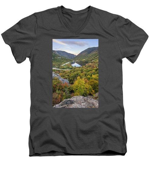 Autumn On Artist's Bluff Men's V-Neck T-Shirt