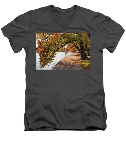 Autumn On The Tidal Basin Men's V-Neck T-Shirt