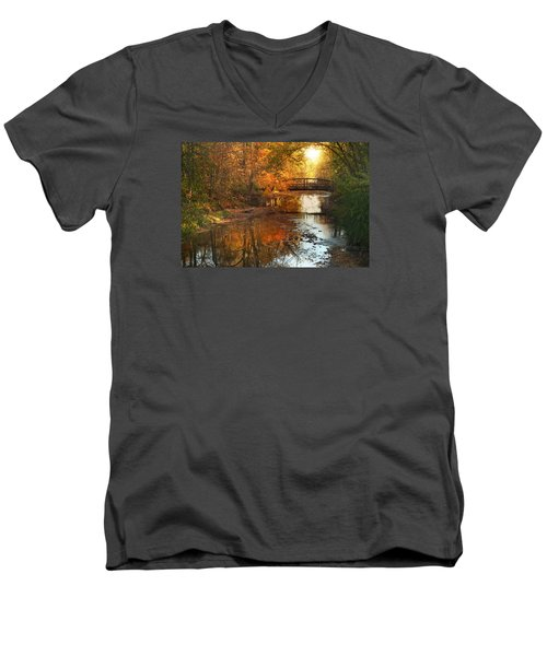 Autumn Over Furnace Run Men's V-Neck T-Shirt