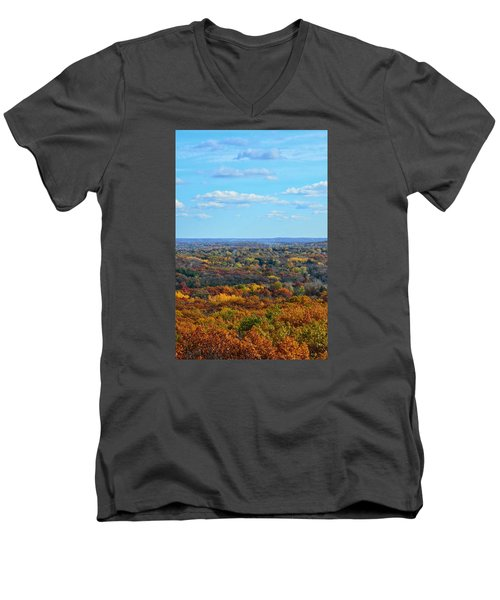 Autumn Overlook Men's V-Neck T-Shirt by Nikki McInnes