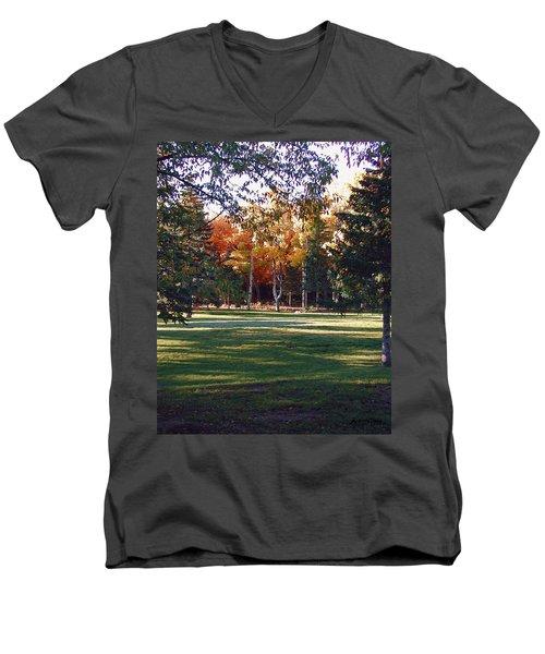 Autumn Park Men's V-Neck T-Shirt