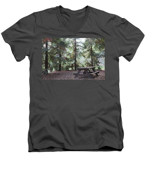 Autumn Picnic In The Woods  Men's V-Neck T-Shirt
