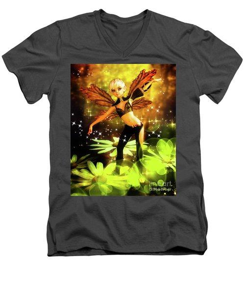 Autumn Pixie Men's V-Neck T-Shirt