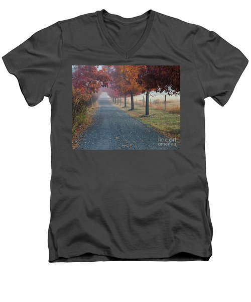 Autumn Portal Men's V-Neck T-Shirt
