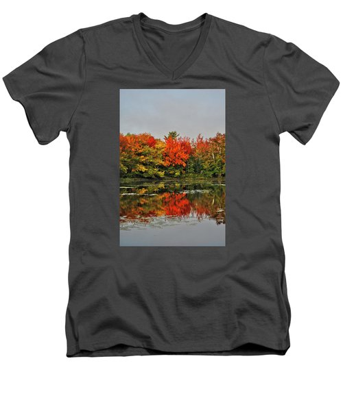 Men's V-Neck T-Shirt featuring the photograph Autumn Portrait by Kathleen Sartoris