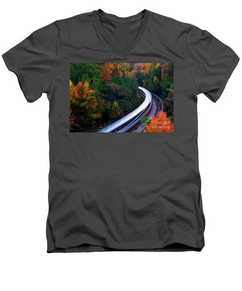 Autumn Rails Men's V-Neck T-Shirt