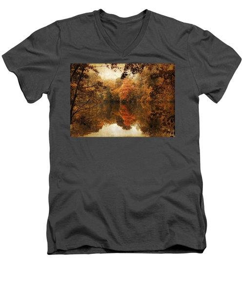 Autumn Reflected Men's V-Neck T-Shirt