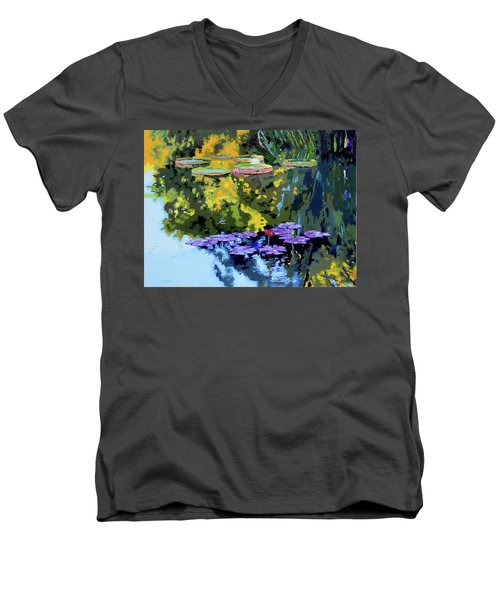 Autumn Reflections On The Pond Men's V-Neck T-Shirt