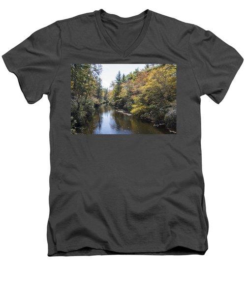 Autumn River Men's V-Neck T-Shirt