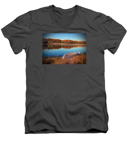 Autumn Serenade Men's V-Neck T-Shirt by Cedric Hampton