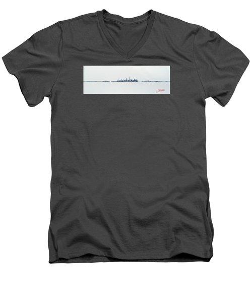 Autumn Skyline Men's V-Neck T-Shirt