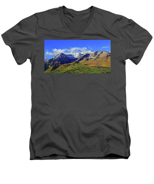 Autumn Snow On Timp Men's V-Neck T-Shirt
