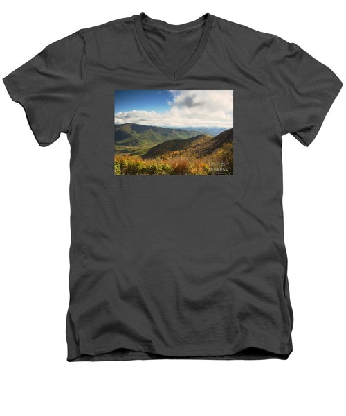 Autumn Storm Clouds Blue Ridge Parkway Men's V-Neck T-Shirt