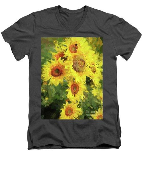 Autumn Sunflowers Men's V-Neck T-Shirt