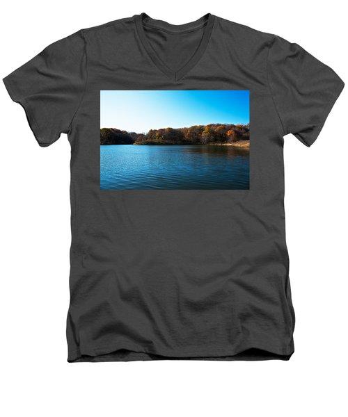 Autumn The In Loess Hills Men's V-Neck T-Shirt