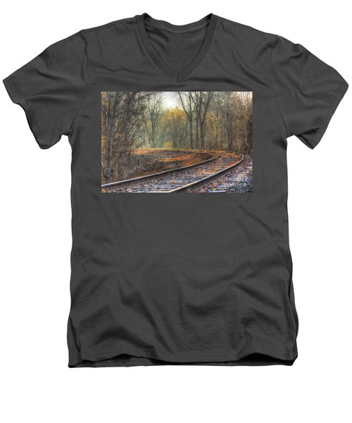 Autumn Tracks Men's V-Neck T-Shirt