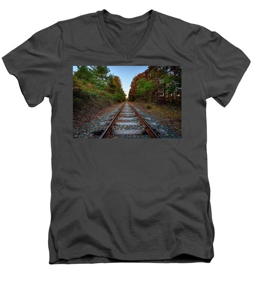 Autumn Train Men's V-Neck T-Shirt