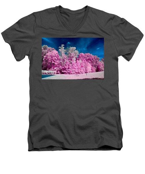 Autumn Trees In Infrared Men's V-Neck T-Shirt