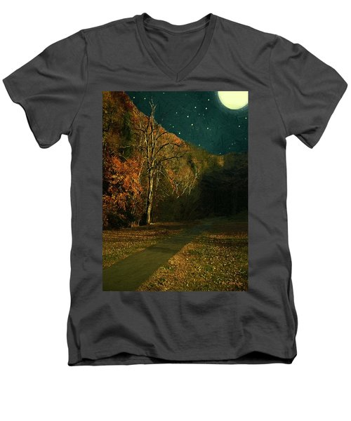 Autumn Tunnel Men's V-Neck T-Shirt
