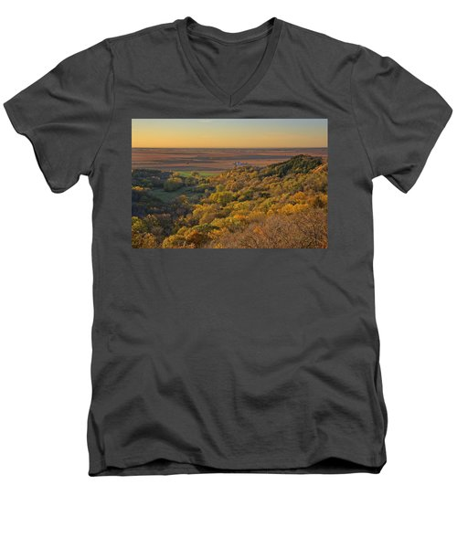 Autumn View At Waubonsie State Park Men's V-Neck T-Shirt