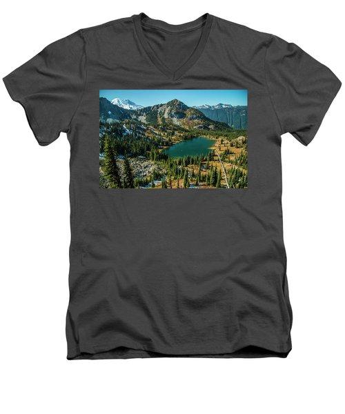 Autumn View Men's V-Neck T-Shirt